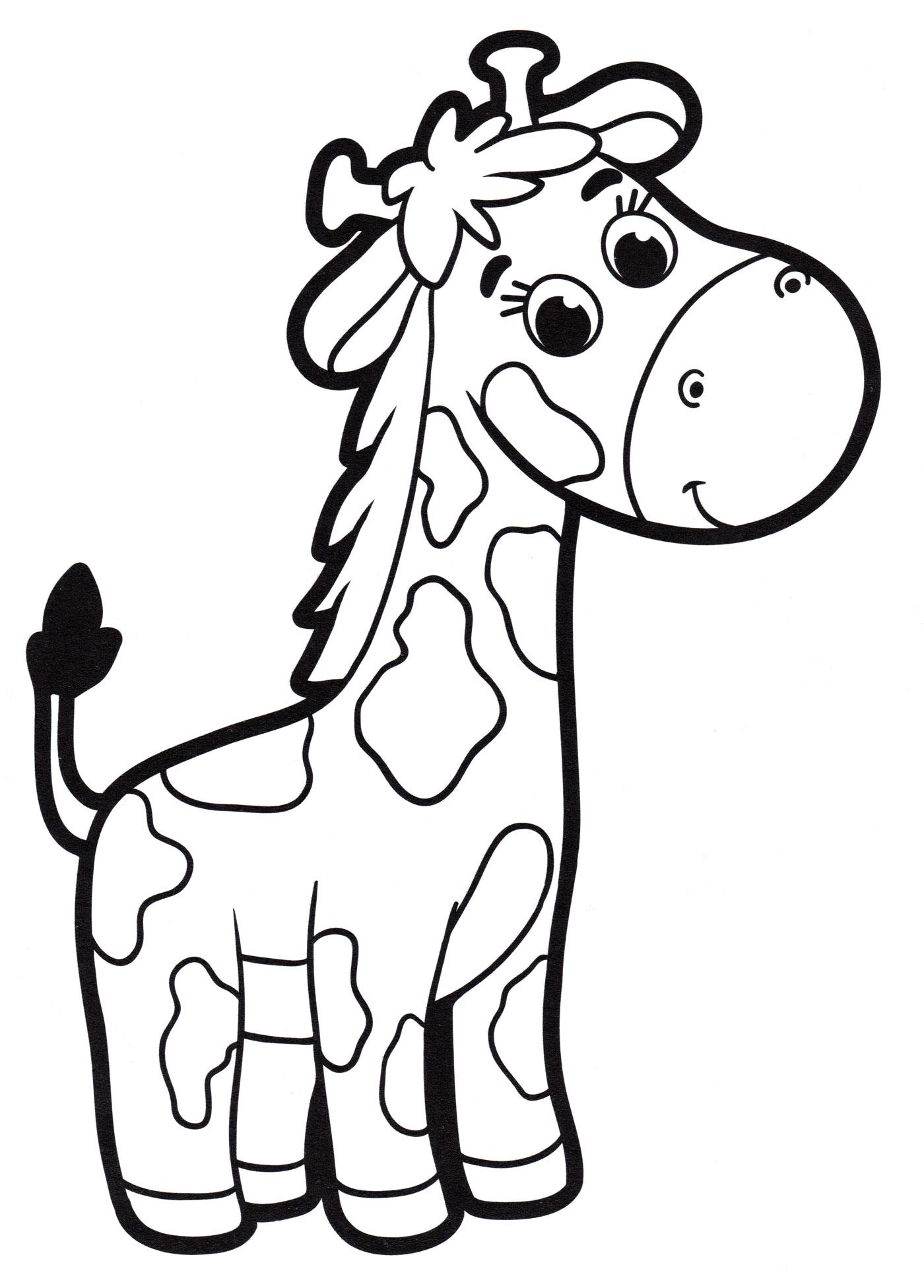 Раскраска Малыш жирафик - распечатать бесплатно