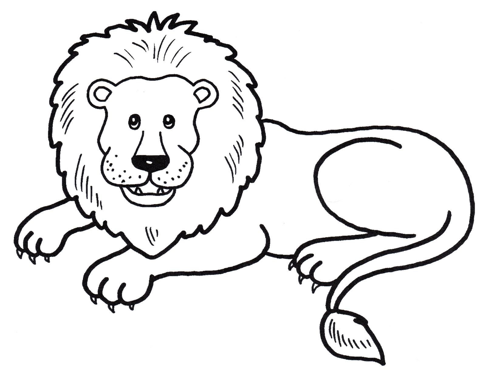 Раскраска Лев с гривой - распечатать бесплатно