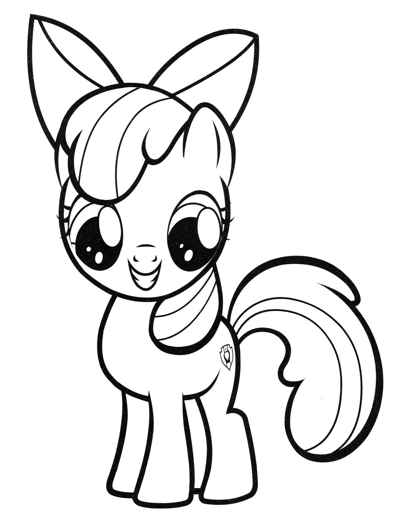 Раскраска Эппл Блум - земная пони - распечатать бесплатно