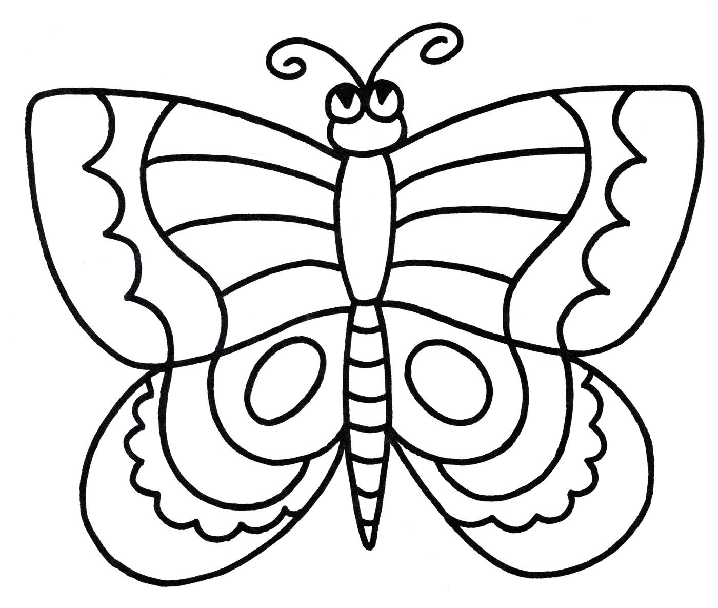 Раскраска Красивая бабочка - распечатать бесплатно