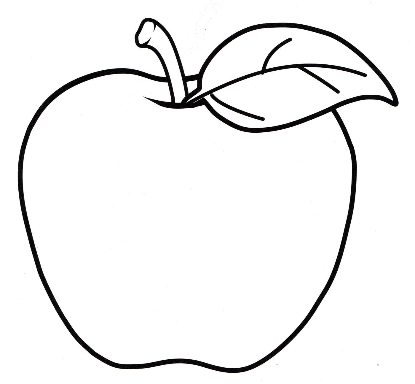 Раскраска Сочное яблоко - распечатать бесплатно