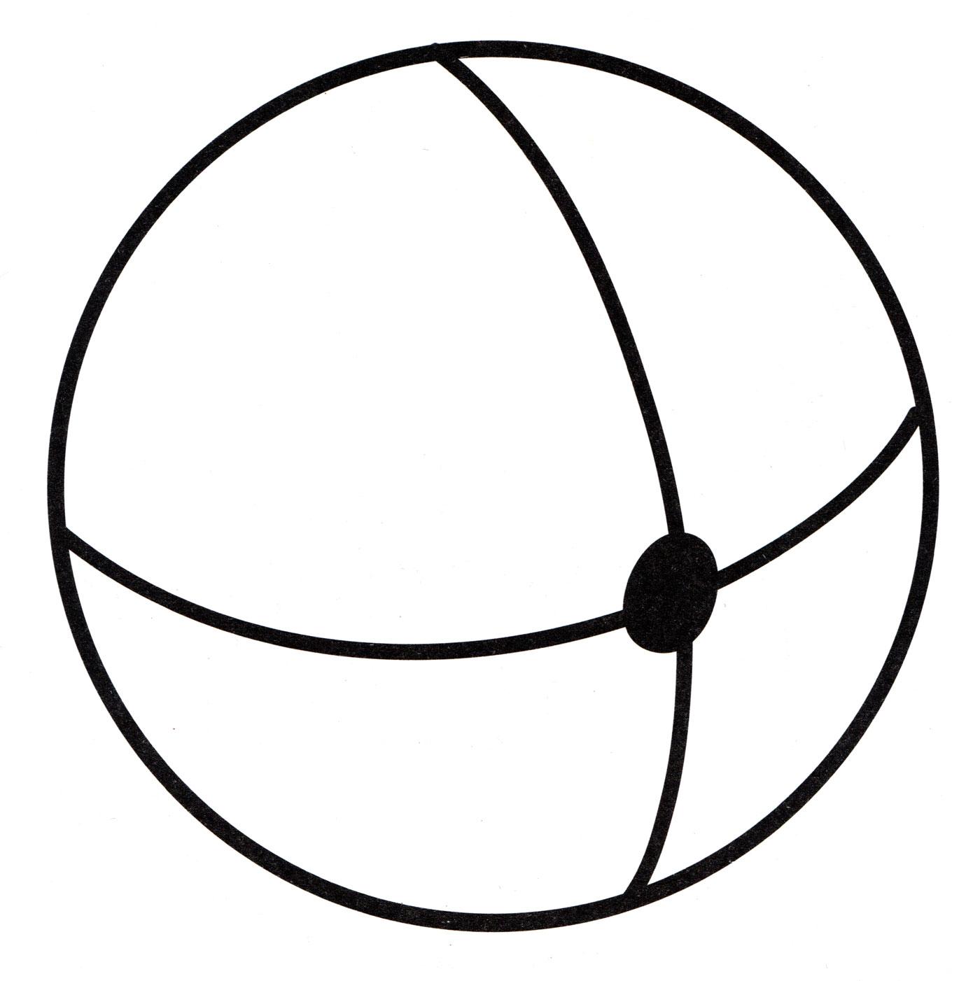 Картинка мяч для детей раскраски