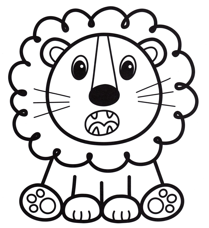 раскраска львенок рычит распечатать бесплатно