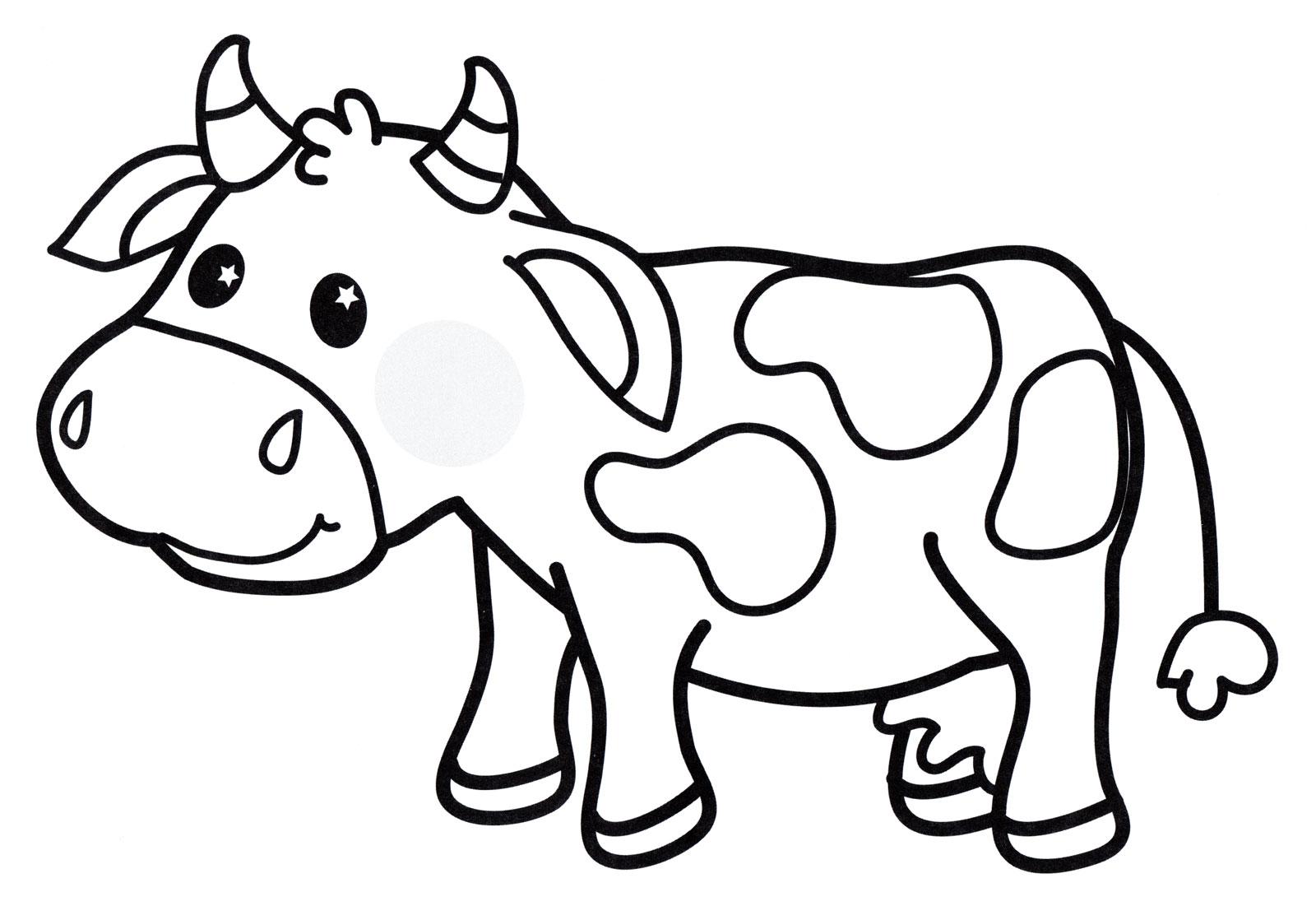 Раскраска коровы для детей распечатать