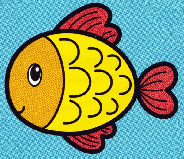 Раскраска Маленькая рыбка - распечатать бесплатно
