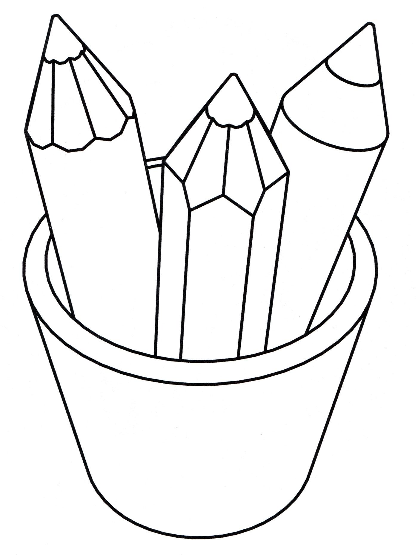 картинка для разукрашивания карандаш своим