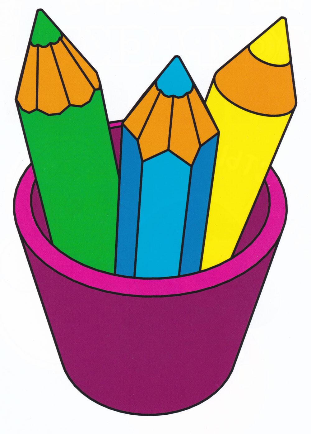 Раскраска Цветные карандаши - распечатать бесплатно