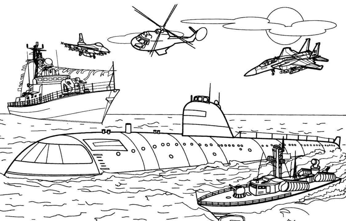 Раскраска Военные корабли | Раскраски корабли