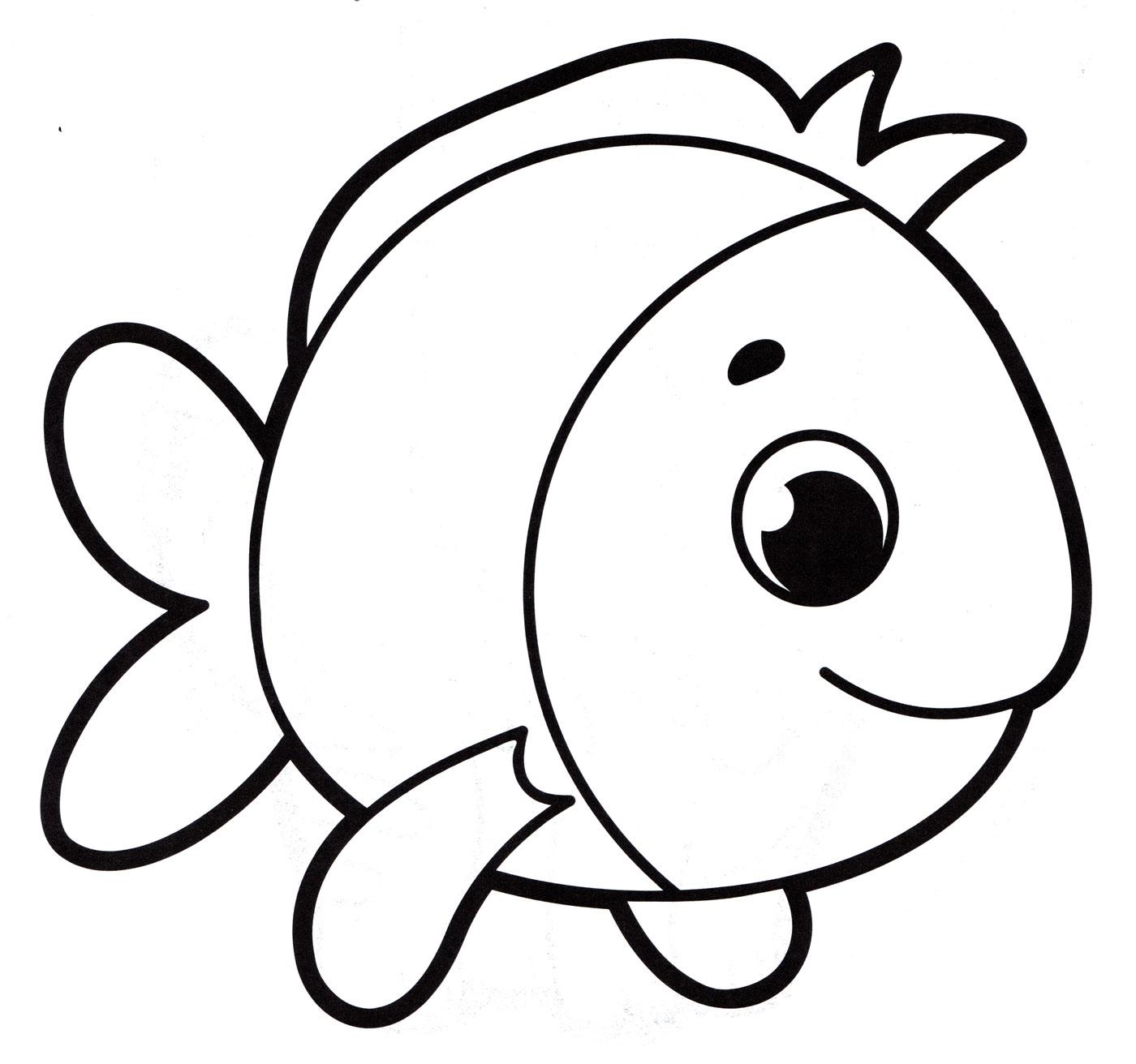 Раскраска Рыбка малыш - распечатать бесплатно