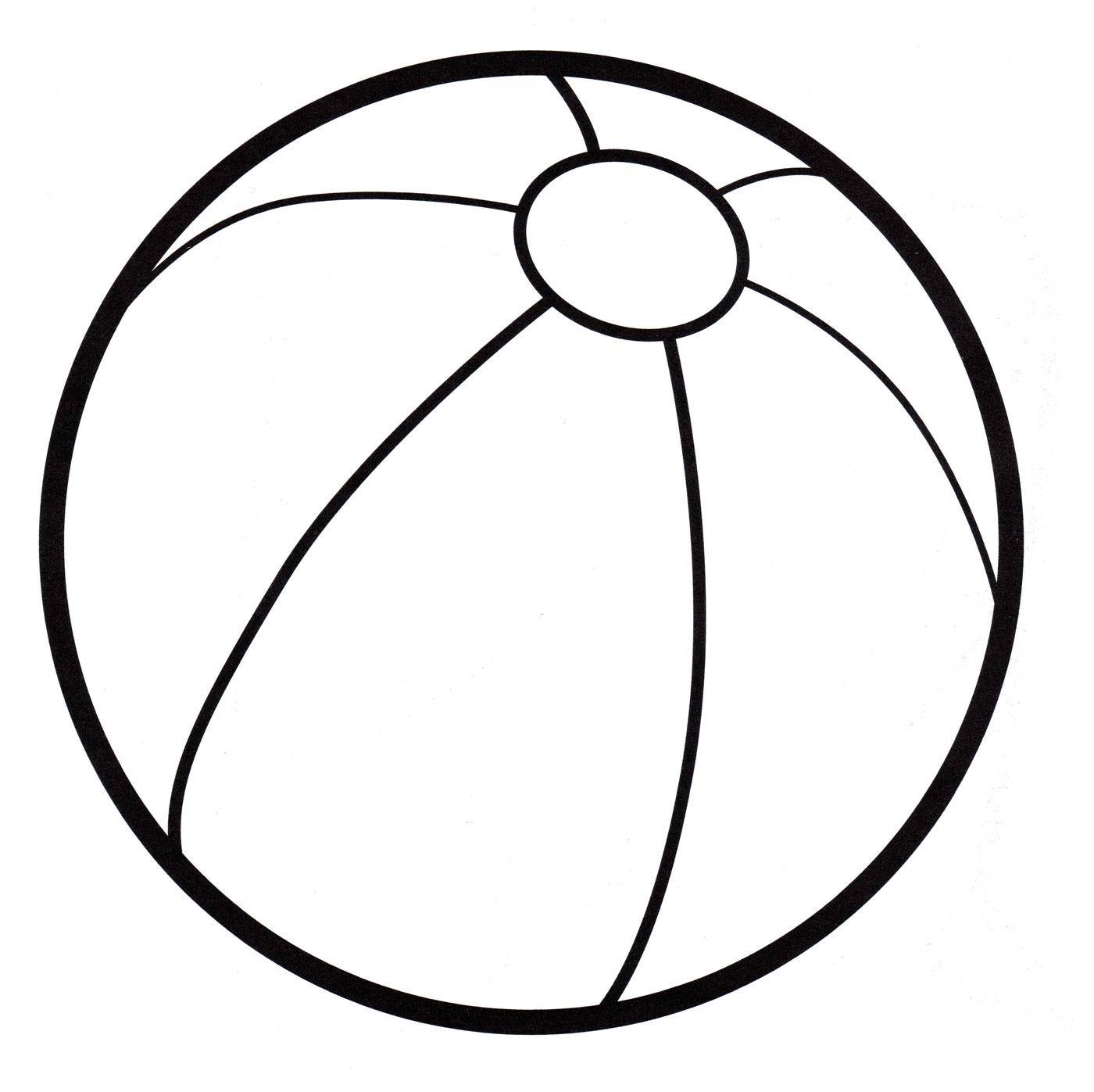 Раскраска с мячом