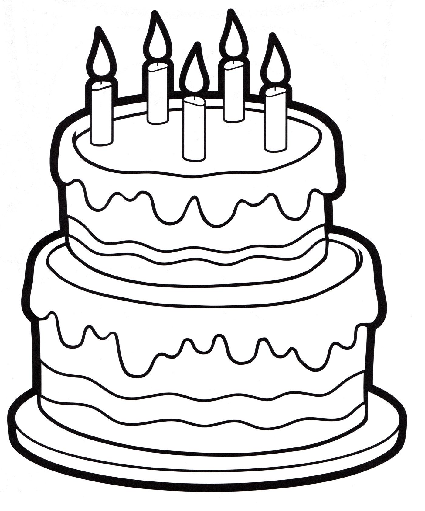 Рисунки тортики с днем рождения
