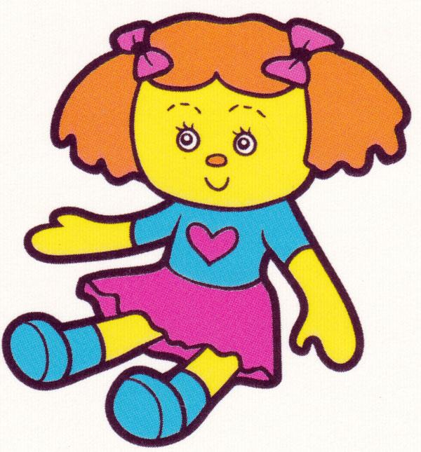 Раскраска Кукла с бантиками - распечатать бесплатно