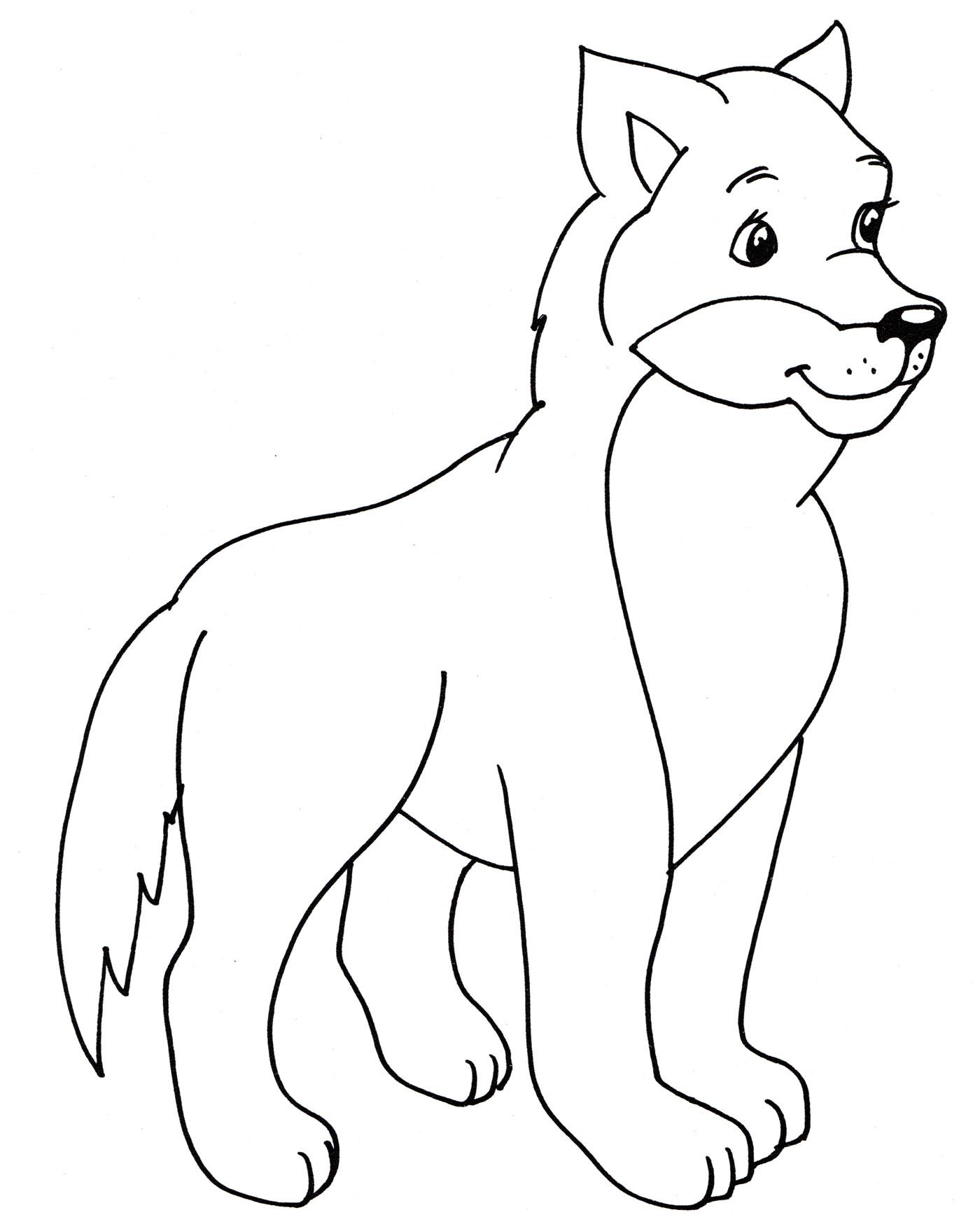 раскраска красивый волк распечатать бесплатно