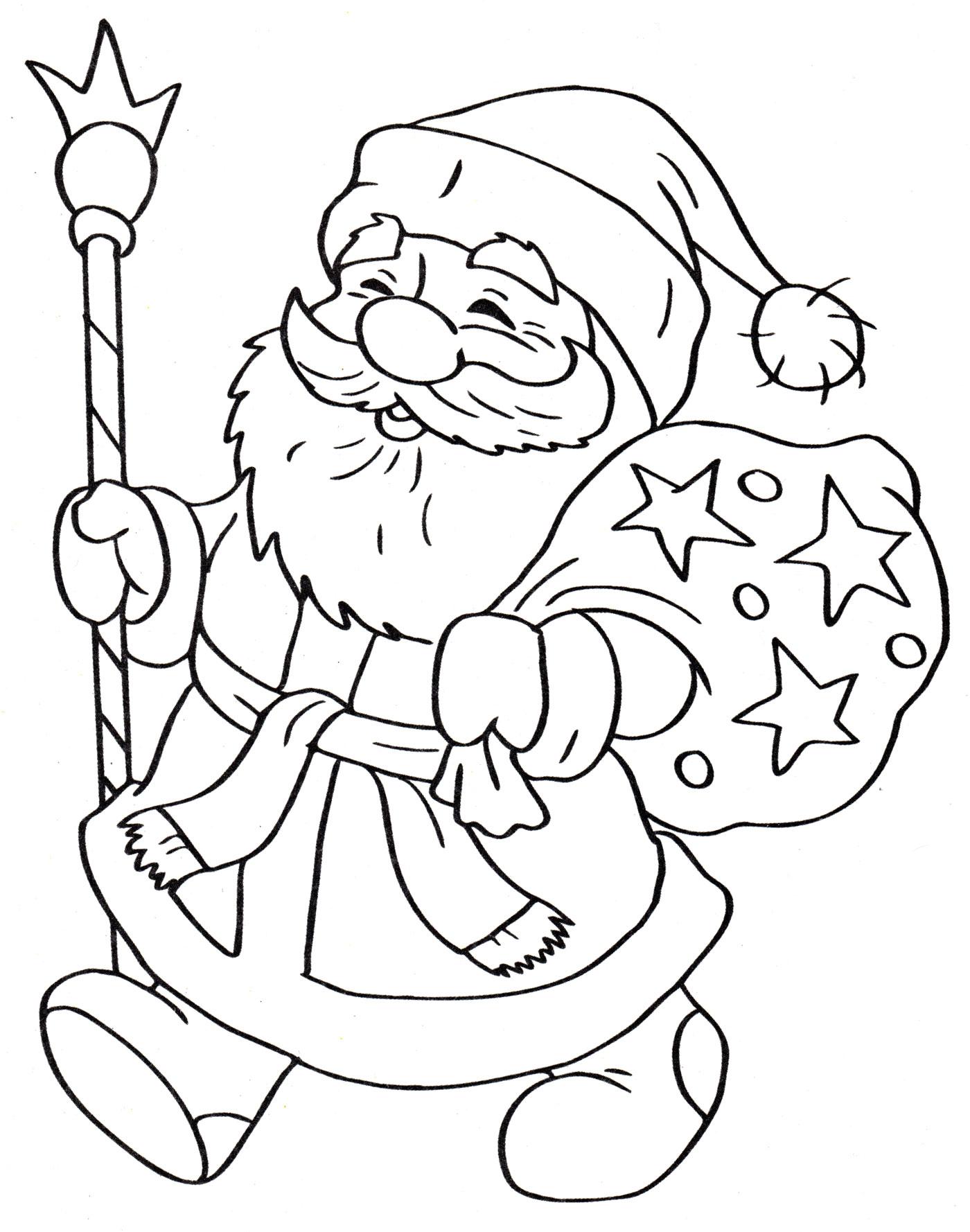 Дед мороз большая картинка распечатать подборка