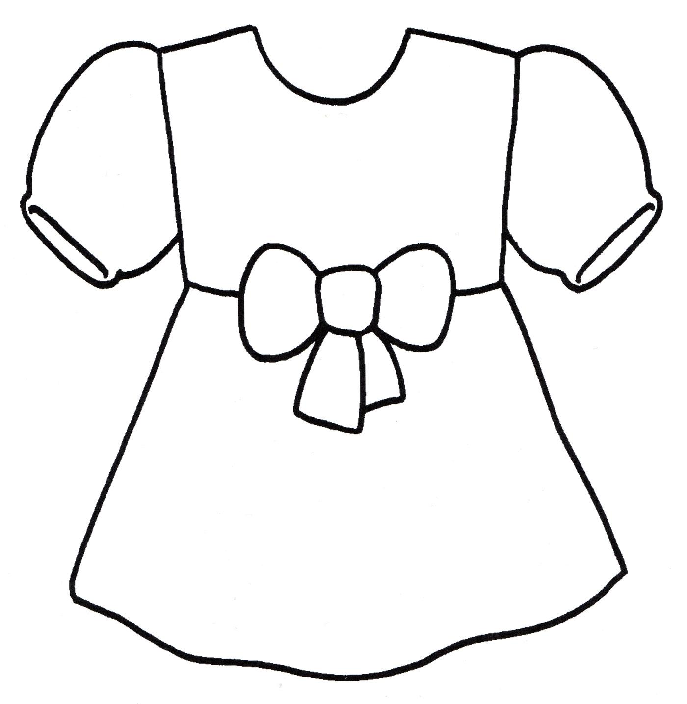 Раскраски платье для куклы распечатать
