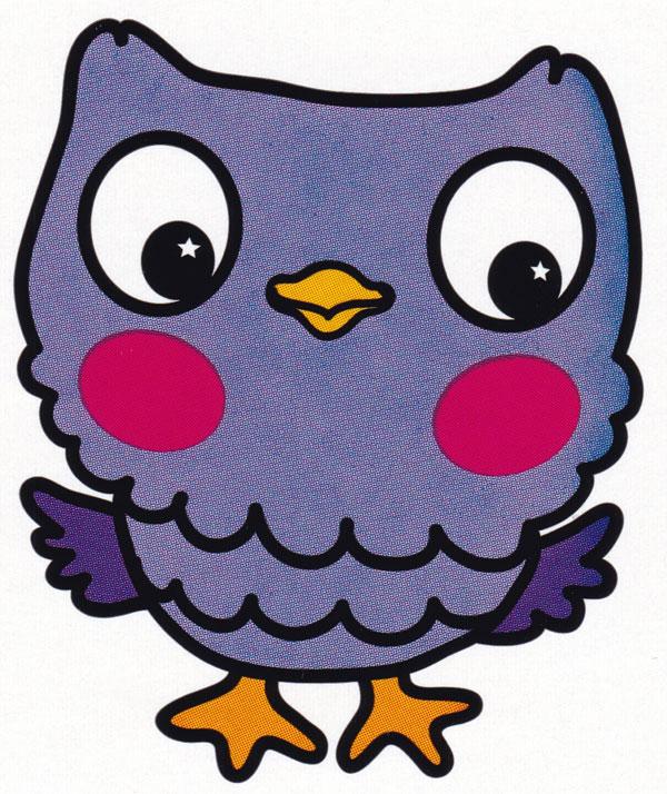 Раскраска Маленькая красивая сова - распечатать бесплатно