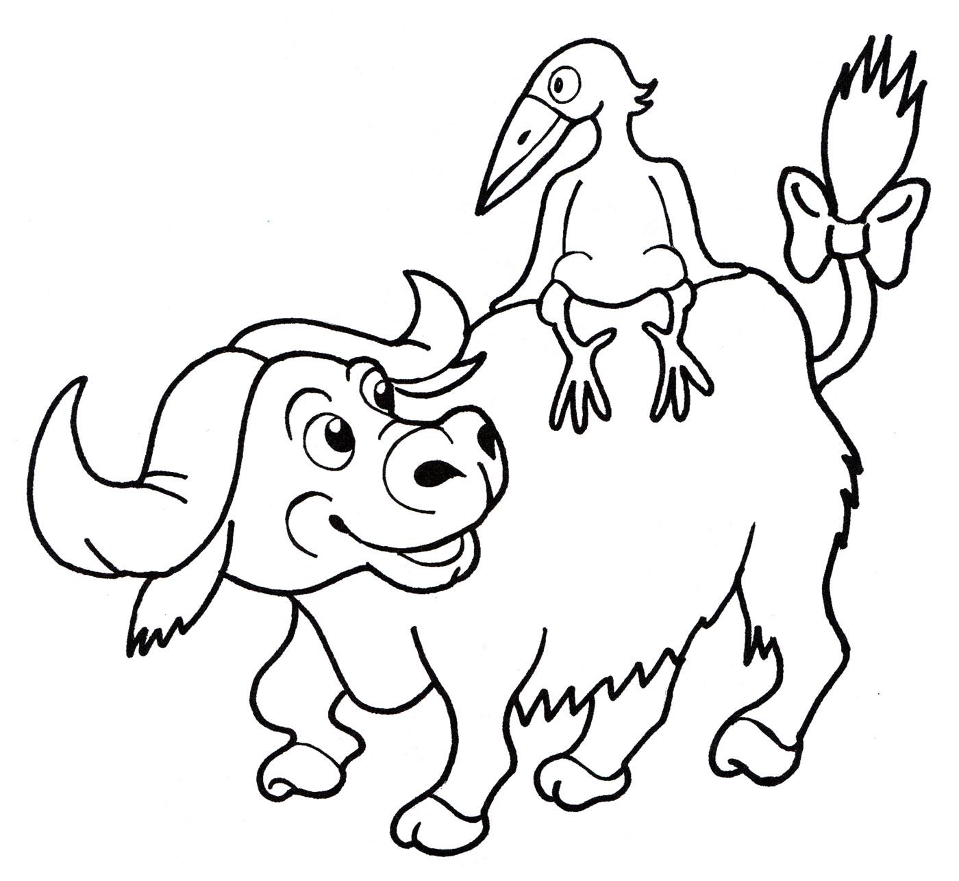 картинки раскрасок быков нло