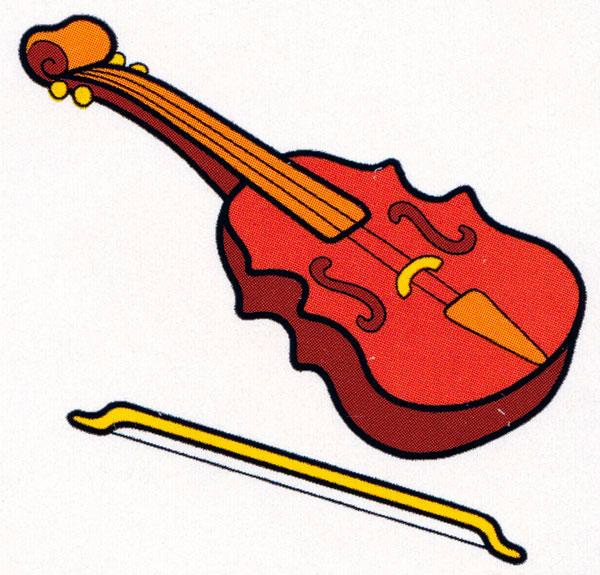 раскраска скрипка распечатать бесплатно