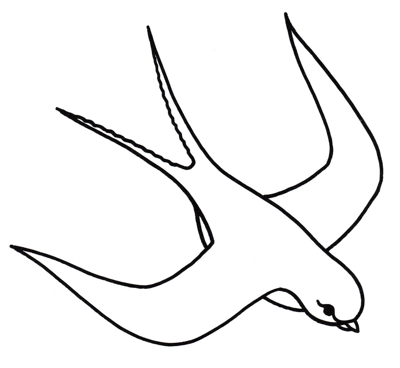 Раскраска Ласточка в полете - распечатать бесплатно