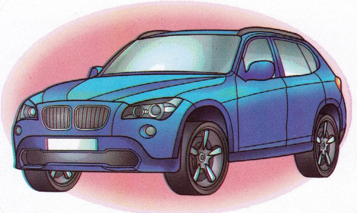 Раскраска BMW X1 - распечатать бесплатно
