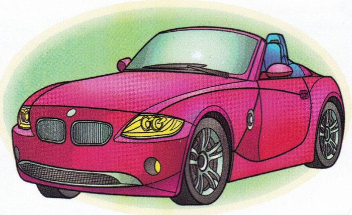 Раскраска BMW Z4 - распечатать бесплатно