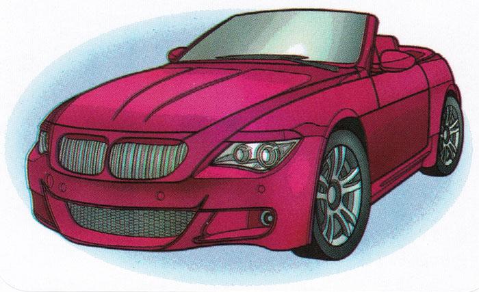 Раскраска BMW M6 Coupe - распечатать бесплатно
