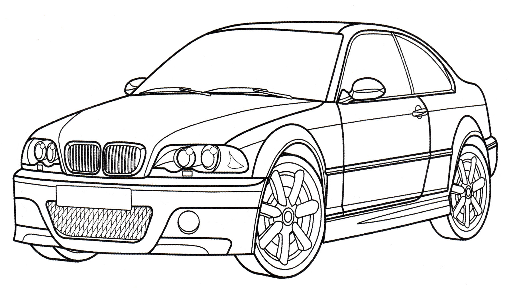 Раскраска BMW M3 Coupe