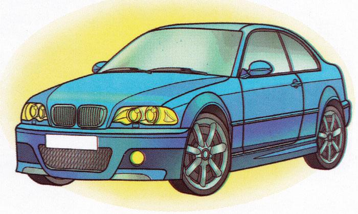 Раскраска BMW M3 Coupe - распечатать бесплатно