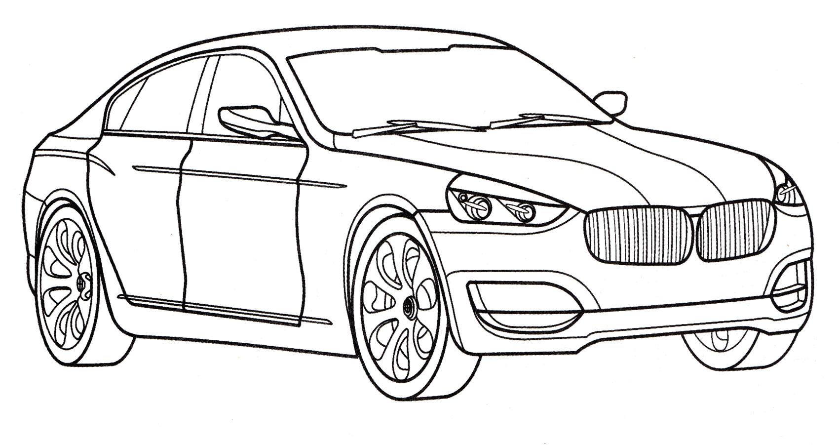 Раскраска BMW CS - распечатать бесплатно