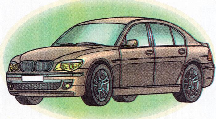 Раскраска BMW 760Li - распечатать бесплатно