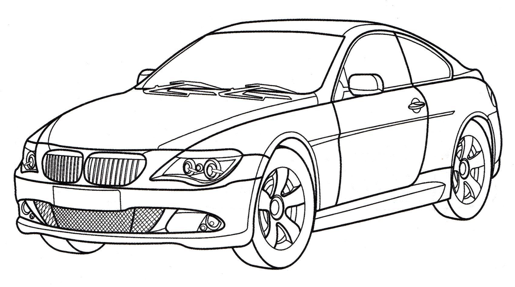 Раскраска BMW 650i Coupe - распечатать бесплатно