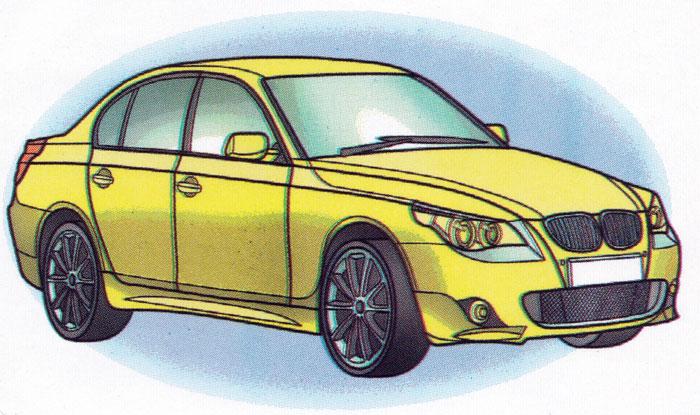 Раскраска BMW 5-series - распечатать бесплатно