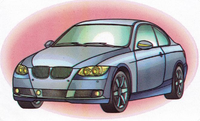 Раскраска BMW 3-series - распечатать бесплатно