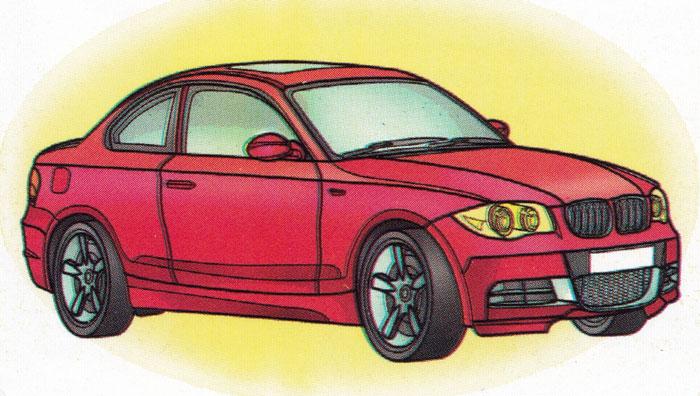 Раскраска BMW Cabrio E88 - распечатать бесплатно