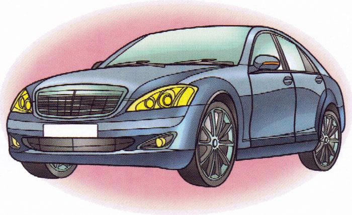 Раскраска Mercedes S 350L - распечатать бесплатно