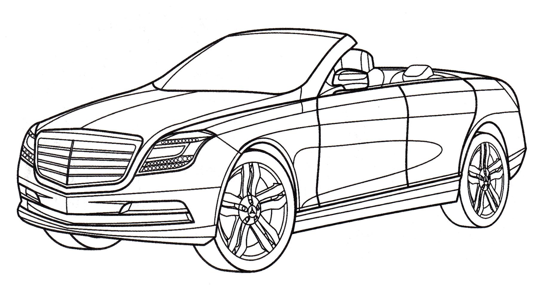 Раскраска Mercedes Ocean Drive - распечатать бесплатно