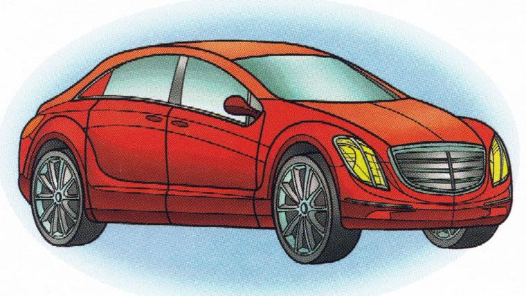 Раскраска Mercedes F700 - распечатать бесплатно