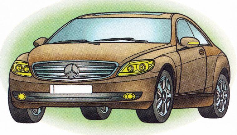 Раскраска Mercedes CL 550 Sport - распечатать бесплатно