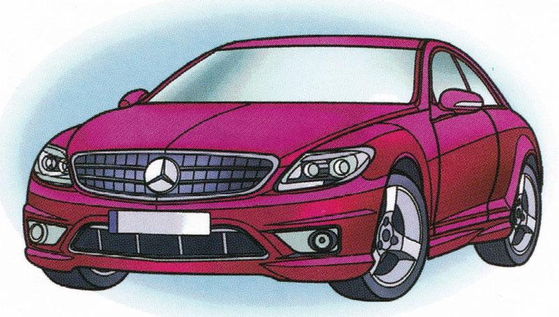 Раскраска Mercedes CL65 AMG - распечатать бесплатно