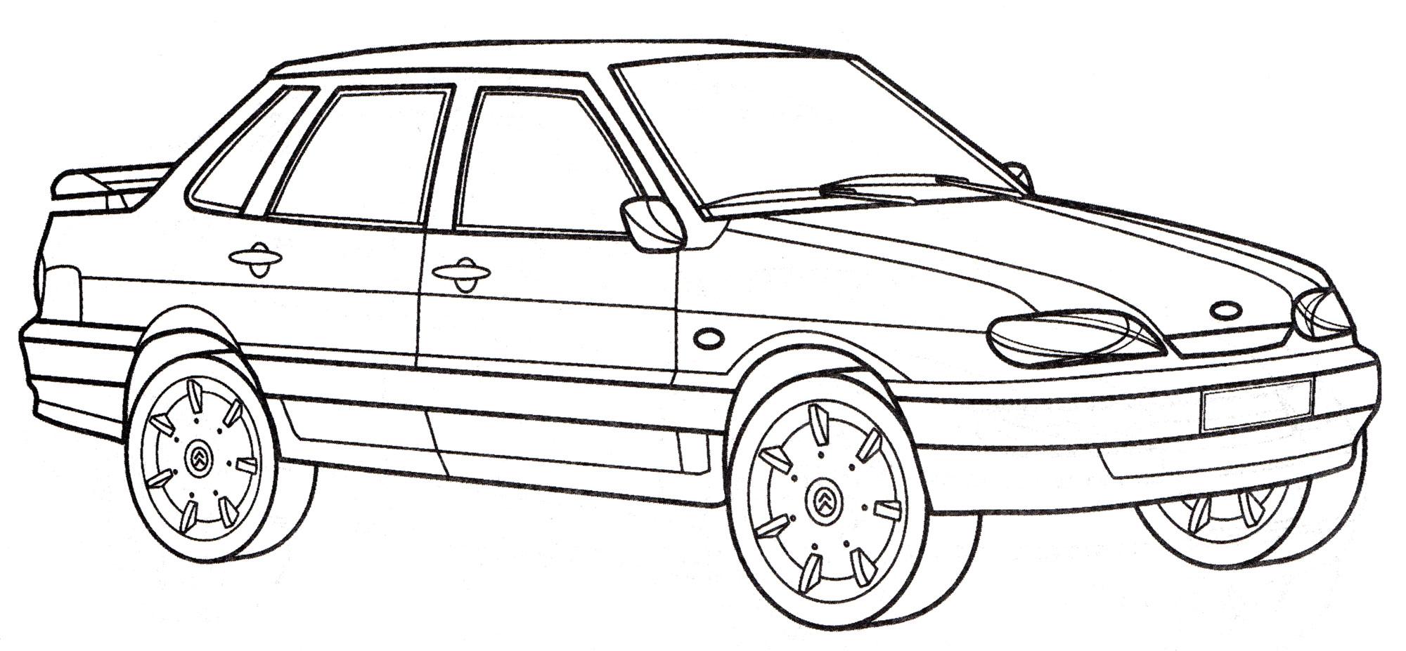 рисунки русские машины легковые