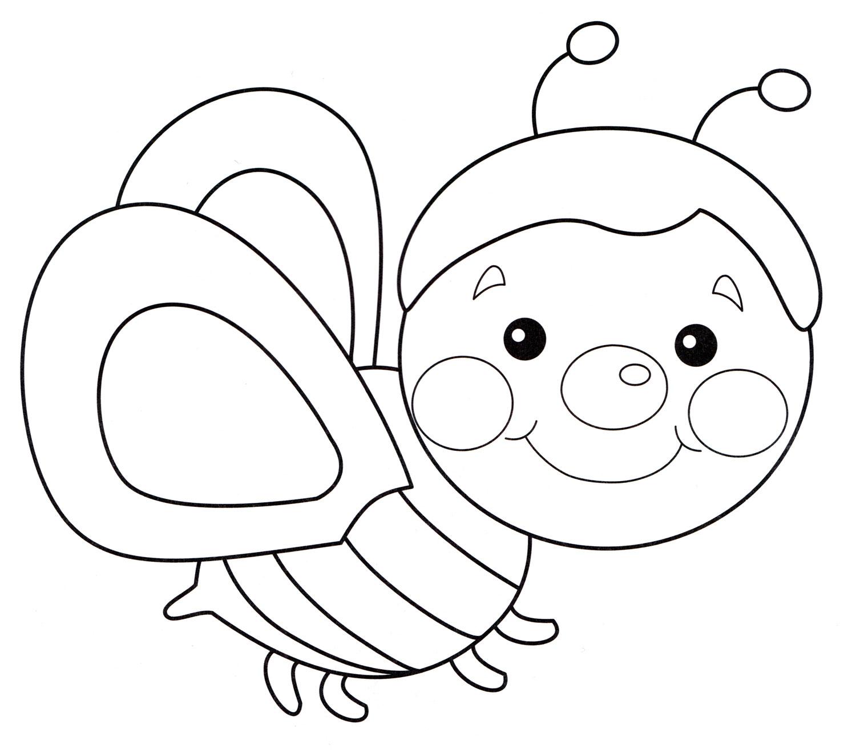 Распечатать раскраски пчелки