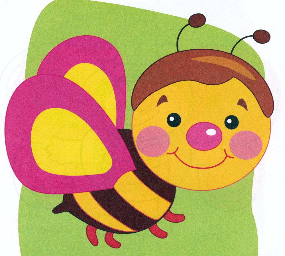 Раскраска Пчелка Жу-жу - распечатать бесплатно