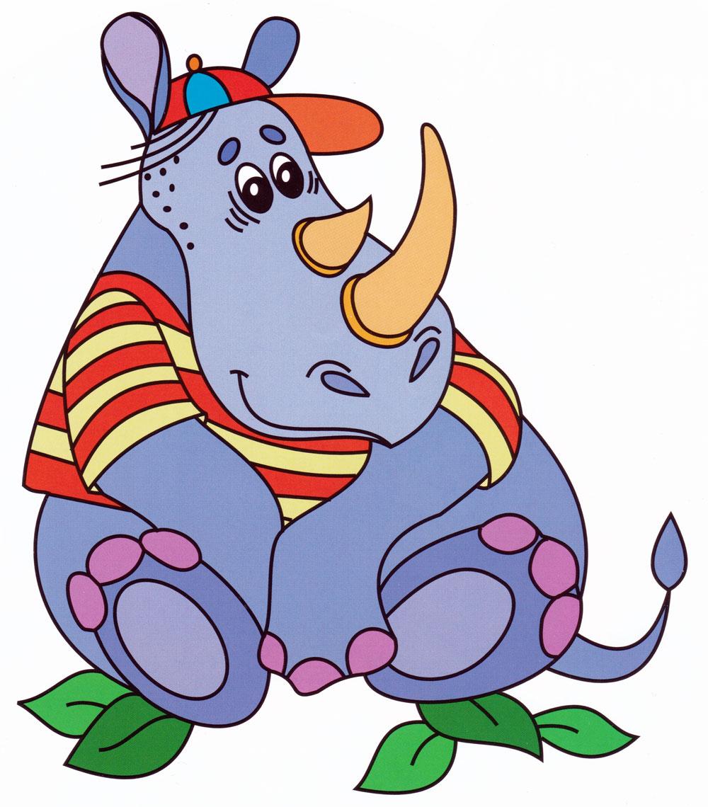 носороги картинки с сказки натуральный холст пигментные