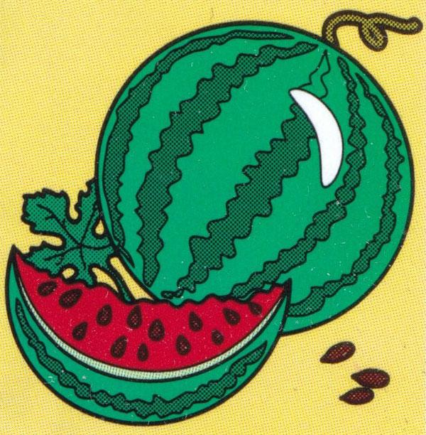 Раскраска Кусочек арбуза - распечатать бесплатно