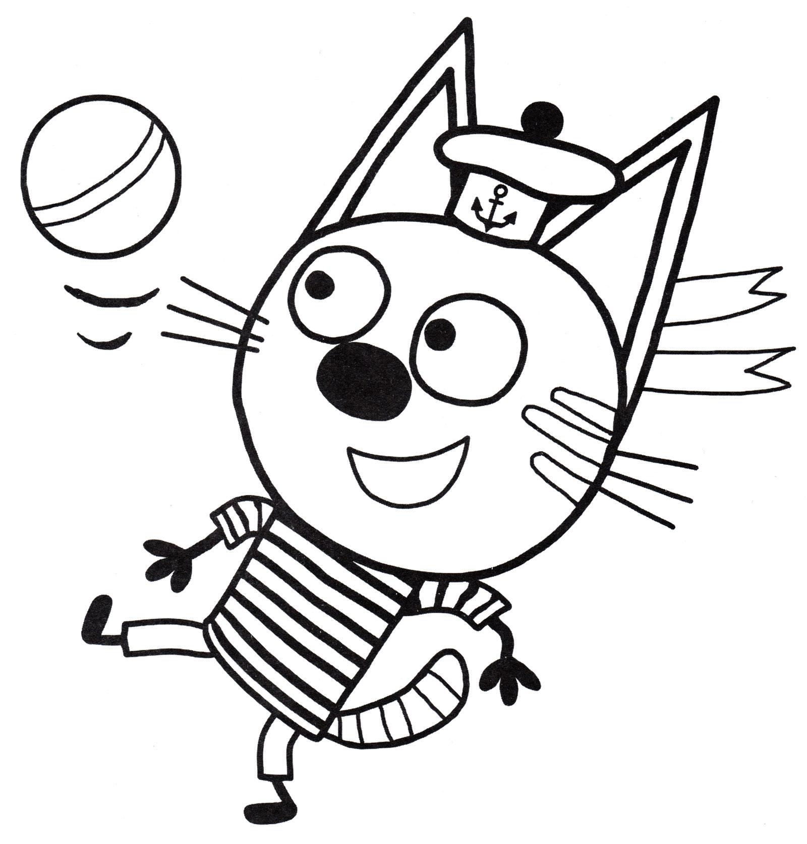 Раскраска Коржик | Раскраски Три кота