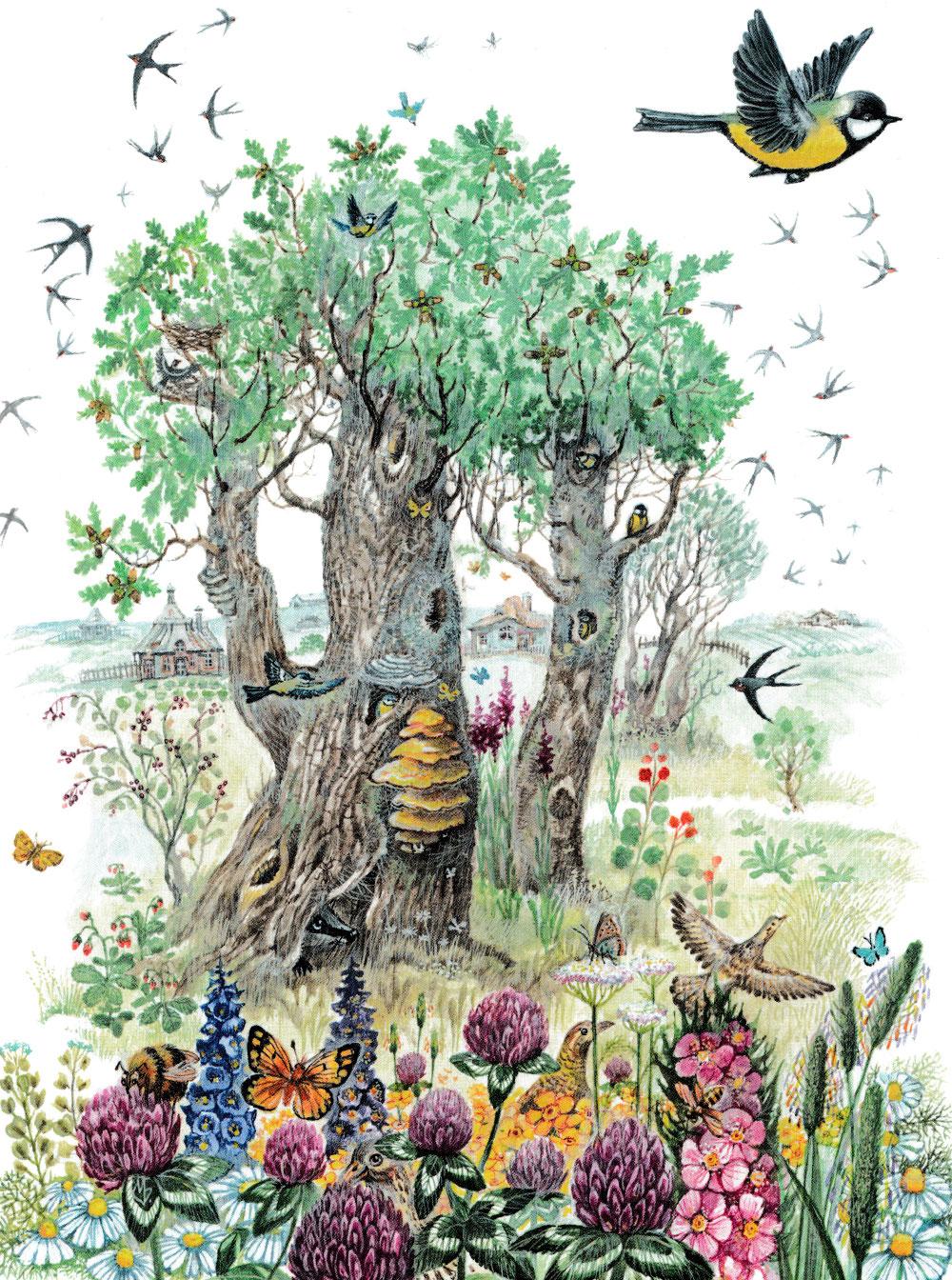 Синичка летает по лесу