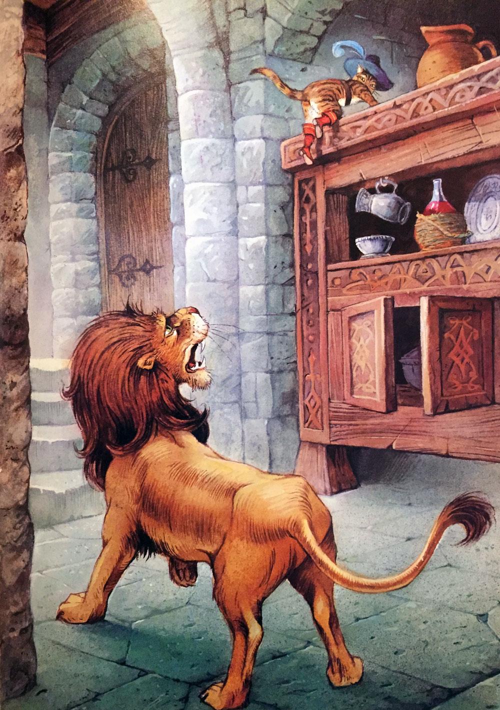 кот в сапогах в замке людоеда картинки все эти