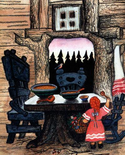 Сказка Три медведя - картинка 3