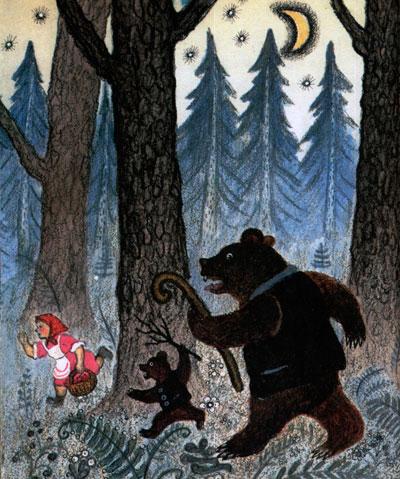 Сказка Три медведя - картинка 10