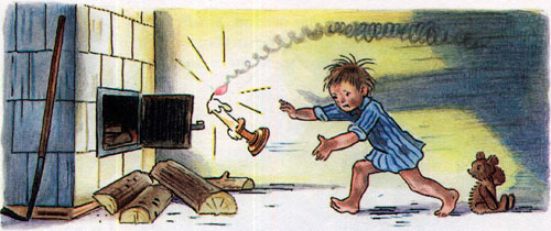 Мойдодыр - свеча убегает